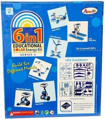Annie 6 - in - 1 Educational Solar Energy Kit Series 2, Multi Color