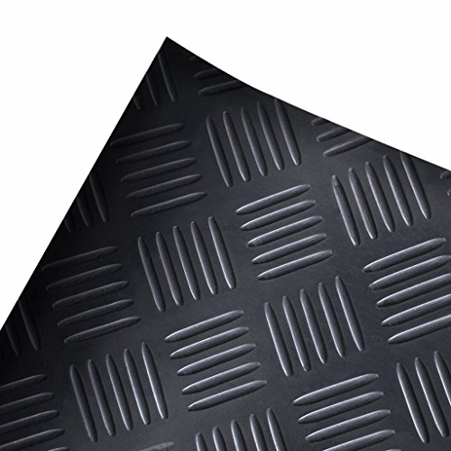 vidaXL Tapis de sol antidérapant En caoutchouc 2 x 1 m Diamant Prix