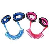 Zooawa Anti Lost Handgelenk Leine, [2 Pack] Wristband Leine Kind Outdoor Sicherheitsgurt Schnur für Kinder und Kleinkinder, 1.5M Rosa + 1.8M Blau