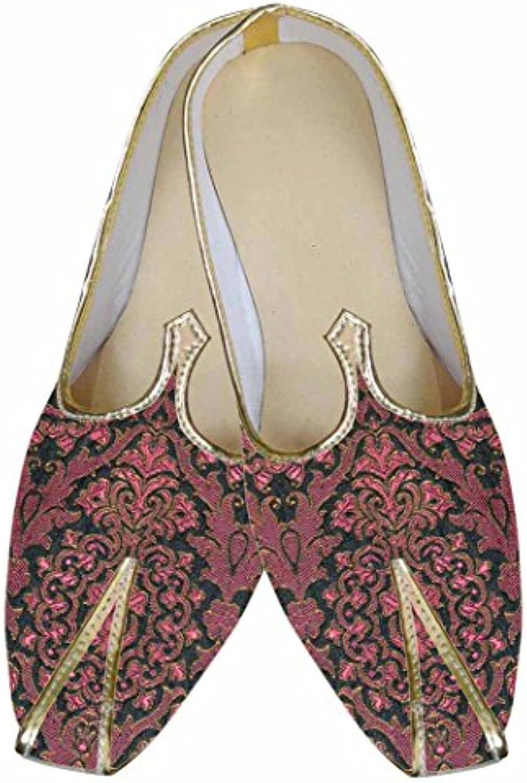 INMONARCH Hombres Burdeos Indio Boda Zapatos MJ0080