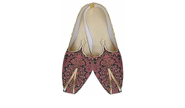 INMONARCH Hommes Chaussures de Mariage Indien Bordeaux