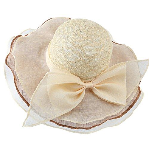 Mme visière/Grand chapeau de soleil fashion/chapeau de soleil/Joli chapeau de plage sauvage B