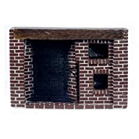 Town Square Miniatures Colonial Fieldstone Walk in Fireplace by Town Square Miniatures