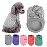 Sunshine D Pet Dog Sweater, Soft Warm Jumper Dog Cat Sweater Coat By in Autumn Early Winter Puppy Jacket Dogs Clothes GREY M 51HUnT1GIGL