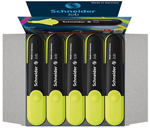 Schneider Job 150 Textmarker (nachfüllbar und lichtbeständig) 10er Pack gelb