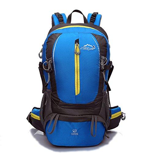 Nuovo L'alpinismo Nylon Zaino Moda Sport Viaggi Borsa 40L,Pink-OneSize Blue