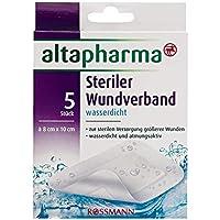 Preisvergleich für altapharma Steriler Wundverband wasserdicht 1 Packung mit 5 Stück zur sterilen Versorgung größerer Wunden, wasserdicht...