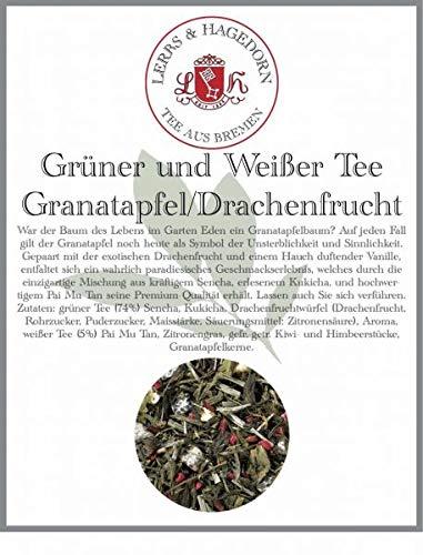 Grüner und Weißer Tee Granatapfel/Drachenfrucht 1 kg - Granatapfel-Drachenfrucht (Grüner Tee Drachenfrucht)