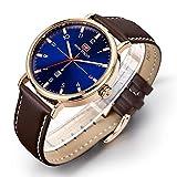 Longqi impermeabile Business stile uomini orologi con movimento al quarzo calendario orologio da polso