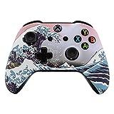 eXtremeRate® Xbox One S Schutzhülle Obere Case Hülle Cover Oberschale Skin Housing Kit Schale Gehäuse Shell für Xbox One S Controller(Brandung)