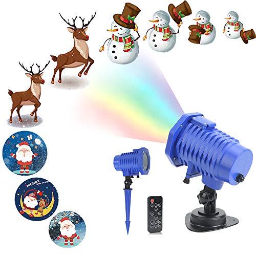 【WeihnachtsGeschenke】Weihnachtsbeleuchtung LED Projektor Lichter innen/außen,Weihnachten LED Dekoration Effektlicht Wasserdicht IP65 für Garten Haus (Halloween Sicher, Süßigkeiten)