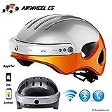 Airwheel C5, Casco Smart Uomo, Bianco/Arancio, 27,2X22X16,9