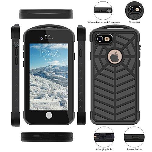 iphone 7 Unterwassergehäuse, ERUN Unterwasser Schneestaubstoßfest Haltbare Voll Sealed Schutz Heavy Duty Case Schutzhülle Fingerabdruck-Scanner Touch-ID für iPhone 7 4.7