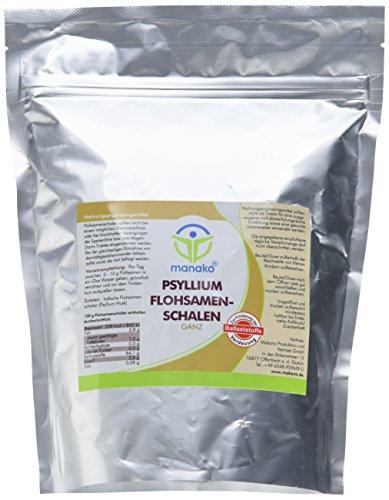 manako prebiotic Psyllium Flohsamenschalen ganz, 500 g Beutel (1 x 0,5 kg)