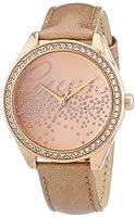 Guess Ladies Trend W0161L1 - Reloj analógico de cuarzo para mujer, correa de cuero color oro rosa de Guess