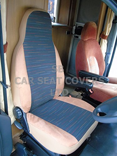 To fit a Ducato motorhome, seat covers, Reggie brown mh-012