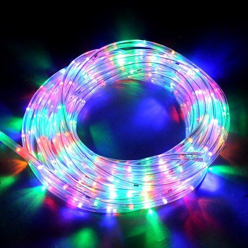 10M LED Lichterschlauch Lichtschlauch Außen/Innen mit 8 Funktion Weihnachten XMAS (Bunt)