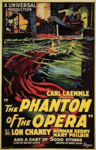 Decorative Wall Poster Filmposter The Phantom of The Oper, Stil B, 28 x 44 cm - Edward Gibson