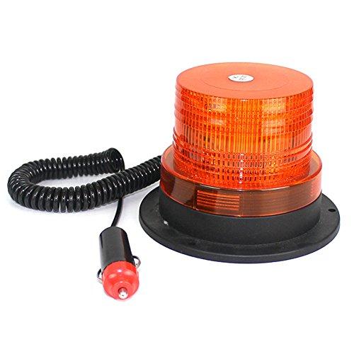 B-JOY 12V /24V LED Beacon Lampe Avertissement d'urgence Magnétique Clignotant Strobe Lumière (Ambre)