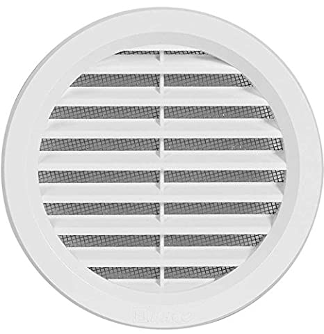 VM 100 Plastic Air Vent Grille Cover Round with Connection