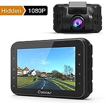 Crosstour Mini AutoKamera 1080P Full HD Dash Cam 12MP Bildschirm mit 170 ° Weitwinkel, HDR, G-Sensor, Loop-Aufnahme, und Bewegungserkennung (CR100)