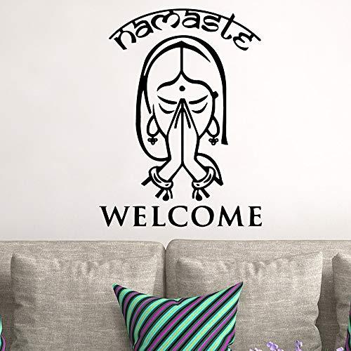 Ajcwhml Islam Willkommen Wandkunst Aufkleber Wandaufkleber Pvc Material Für Wohnzimmer Schlafzimmer Vinyl Kunst Aufkleber 43X59 Cm