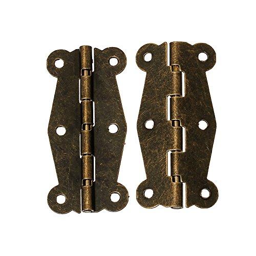 maDDma ® 10 Scharniere 51x24mm Bandscharnier Bronze Vintage Schmetterling Schublade Schrank Möbel -