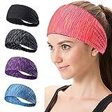 LMMVP ❤️Grosses Soldes Femmes Coton Turban Noué Tête de Warp Bande de Cheveux Large Elastique Bandeau de Sport Yoga (50 cm (élastique), Orange)