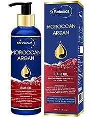 StBotanica Moroccan Argan Hair Oil (With Pure Argan, Jojoba, Almond, Castor, Olive, Avocado, Rosemary Oils), 200ml