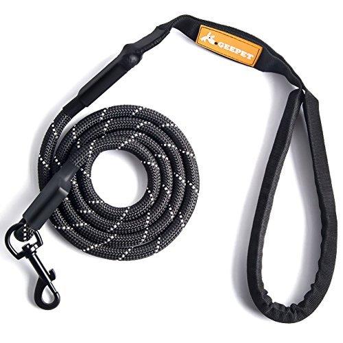 GEEPET Correa de perro de cuerda de escalada de montaña – Calidad Premium – Soporta el más fuerte tirando de perros grandes y de tamaño medio