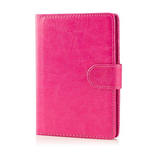 32nd Étui Portefeuille en Cuir PU Flip Coque pour Blackberry Passport, Housse avec Fentes CB et Fermeture Magnétique - Rose