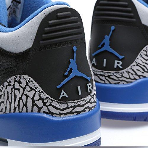 Nike , Chaussures de ville à lacets pour homme Multicolore - Negro / Azul / Gris (Black / Sport Blue-Wolf Grey)