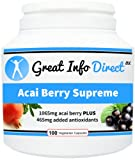 Acai Berry Supreme Fantastic Source of Antioxidants (100 Vegetarian Capsules)