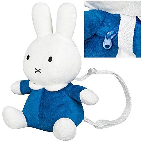 Miffy 0679074 Plüsch 3D Rucksack, Blau -