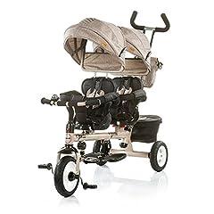 Idea Regalo - Passeggino Triciclo Gemellare Chipolino Apollo Beige