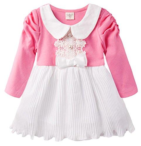 EOZY Bébé Fille Robe De Princesse Banquet Soirée Tutu à Volant Rose Size1