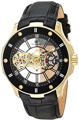 Burgmeister Herren Skeleton Mechanik Uhr mit Leder Armband BM236-202