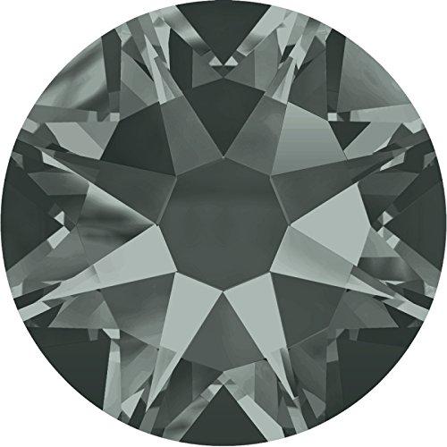 100 Stück SWAROVSKI 2088 XIRIUS, KEIN Hotfix, Black Diamond, SS12 (Ø ca. 3,2 mm), Strasssteine zum Aufkleben (Black Stein Diamond)