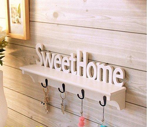 weet home Wandregal Set und Schlüsselbrett für dekorieren Sie Ihr Schlafzimmer, Wohnzimmer usw.