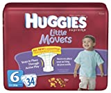 Huggies Little Movers Diapers, Size 6, 3...