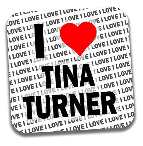 I Love Tina Turner Getränkeuntersetzer – Geschenk – Geburtstag – Weihnachten – Strumpffüller