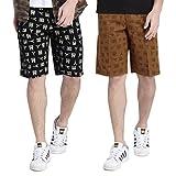 GLASGOW Men's Cotton Printed Shorts - Pa...