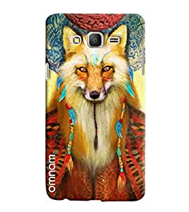 Omnam Wolf Face Printed Designer Back Cover Case For Samsung Galaxy On 5