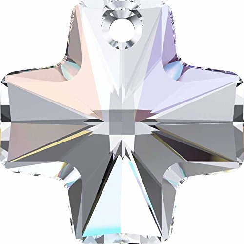 Cristallo Swarovski Ciondolo a forma di croce, Crystal AB, 20mm - Pack of 4 - Croce Ab Cristallo