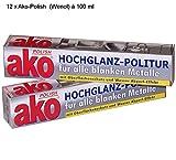 AKO POLISH Hochglanz-Politur für alle blanken Metalle 12 x 100