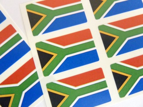 Paquete de 60 , 33x20mm , South África Auto-adherente Bandera Pegatinas , South Africano autoadhesivo Bandera Etiquetas
