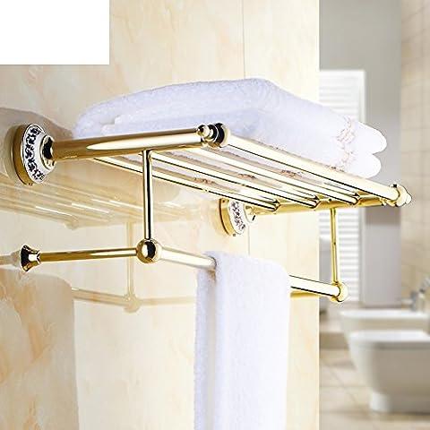 Dorado antiguo toallero/accesorios de baño de porcelana Continental/barra de toalla
