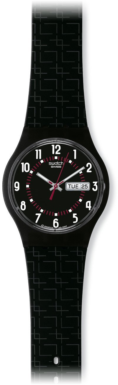 Swatch CORE COLLECTION LIVING SWISS SUJM704 – Reloj unisex de cuarzo, correa de silicona color negro