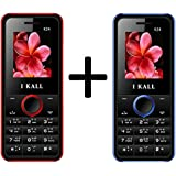I KALL K24 1.8 Inch Display Set Of Two Mobile - Red & Blue