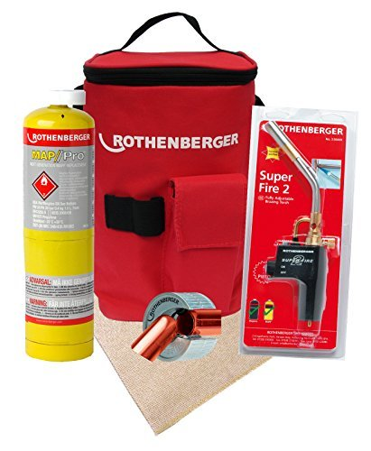 rothenberger-hotbag-deal-kit-includes-superfire-2-torch-15mm-pipeslice-soldering-mat-map-gas-and-car